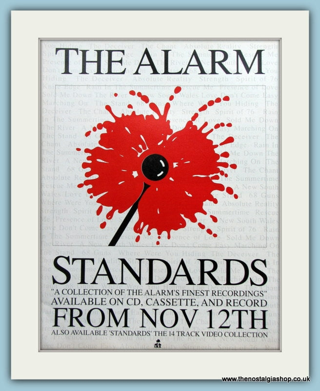 The Alarm Standards 1990 Original Advert (ref AD3061)
