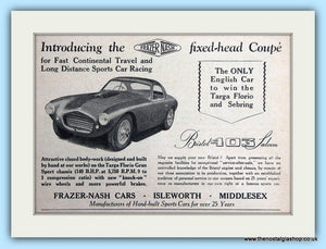 Bristol 403 Saloon Fixed-Head Coupe Original Advert 1953 (ref AD6324)