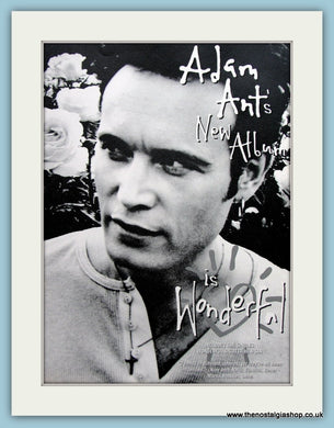 Adam Ant - New Album Is Wonderful 1995 Original Advert (ref AD3084)
