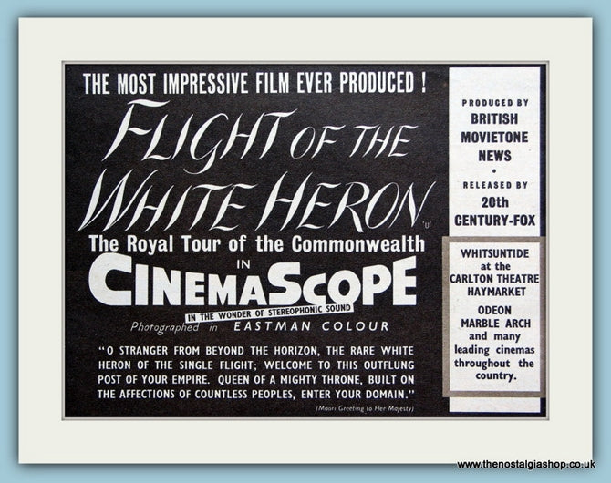 Flight Of The White Heron, 1954 Original Advert (ref AD3246)