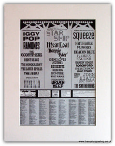 Reading Festival 1988 Advert. Iggy Pop, Meatloaf, Ramones. (ref Ad1827)