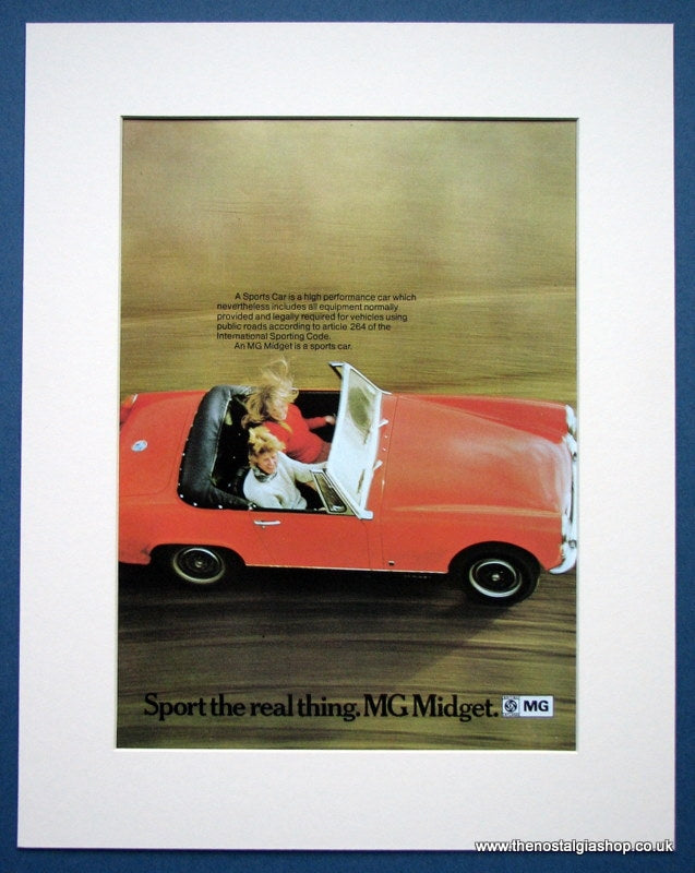 MG Midget. Original advert 1971 (ref AD1354)