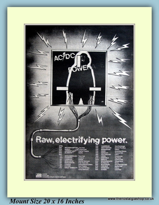 AC DC Powerage Original Advert 1978 (ref AD9394)