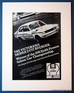 Mopar U-Fit Avenger. Original advert 1976 (ref AD1133)