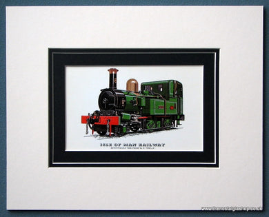 Isle Of Man Railway 'Fenella' Mounted Print (ref SP79)