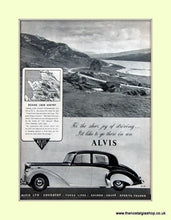 Load image into Gallery viewer, Alvis Set Of 2 Original Adverts 1952 (ref AD6627)