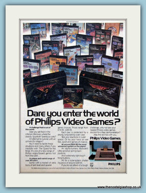Philips Video Games Original Advert 1982 (ref AD6432)