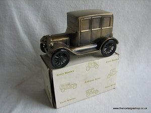 Model T Ford Metal Coin Bank. (ref Nos012)