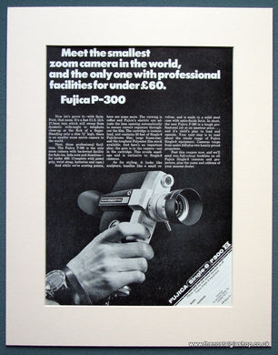 Fujica P-300 Camera 1968 Original Advert (ref AD1067)