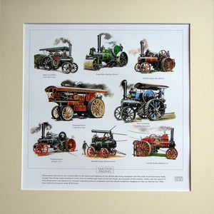 Traction Engines  Mounted print