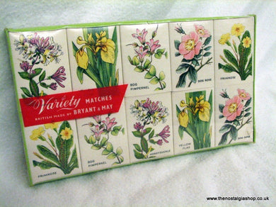 Variety Matches, Vintage Sealed Pack  (ref nos079)