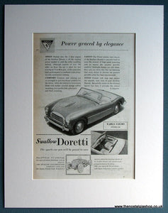 Swallow Doretti 1954 Original Advert (ref AD 1722)