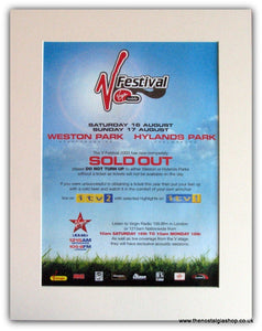 V Festival 2003 Event Advert, Sold Out!  (ref AD1813)