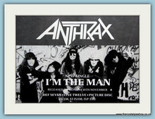 Load image into Gallery viewer, Anthrax Set of 3 Original Adverts I'm The Man, Indians, Anti-Social 1980's (ref AD3054)