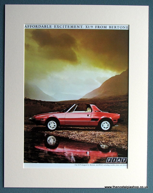Fiat X1/9 1983 Original Advert (ref AD1748)