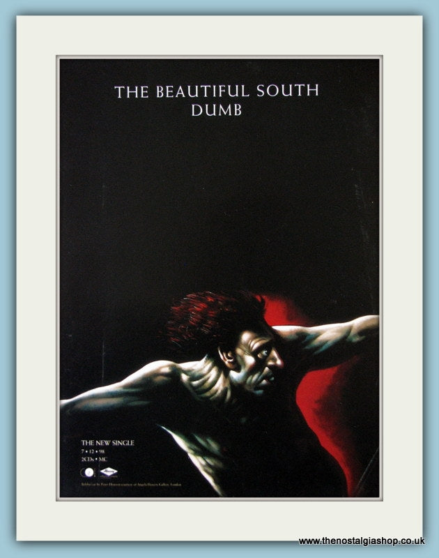 The Beautiful South Dumb-Quench Set Of 2 Original Music Adverts 1998 (ref AD3428)