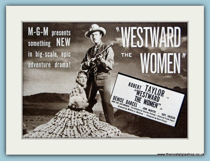 Westward The Women starring Robert Taylor 1952 Original Advert (ref AD3210)
