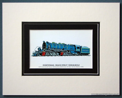 Central Railway (Brazil) No: 1307 Built 1937 Mounted Print (ref SP63)
