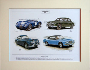 Jaguar Greats  Mounted Print