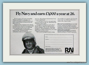 Royal Navy Technician. Set of 4 Original Adverts 1970's (ref AD6061)