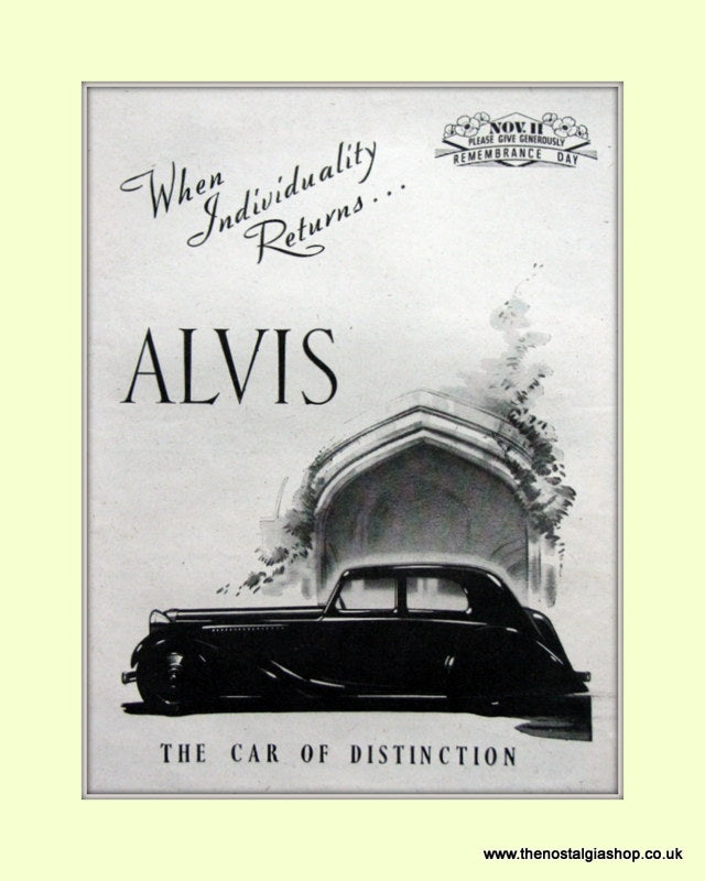 Alvis 1944 Original Advert (ref AD6626)