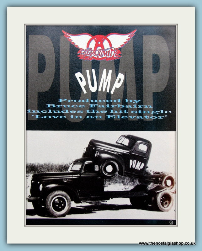 Aerosmith Pump 1989 Original Advert (ref AD3124)