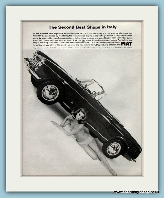 Fiat 1500 Spider Original Advert 1965 (ref AD8309)