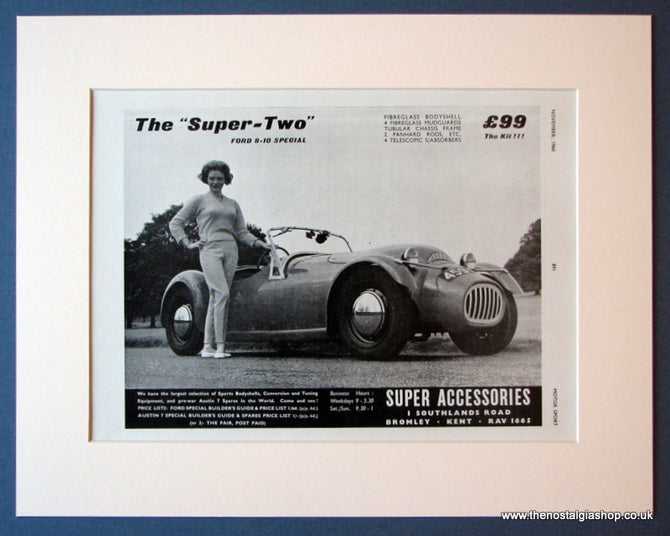 Ford 8 - 10 Special. Super Two. Original advert 1960 (ref AD1124)