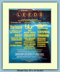 Carling Leeds Festival Temple Newsam Park 1999 Original Advert (ref AD9026)