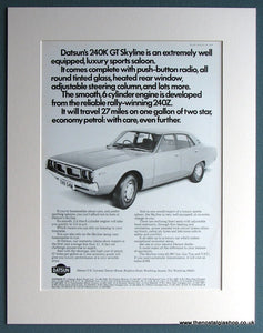 Datsun 240K GT Skyline 1974 Original Advert (ref AD1737)