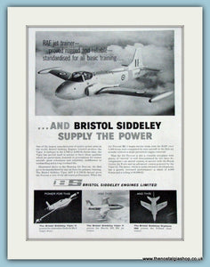 Bristol Siddeley Aircraft. Original Advert 1960 (ref AD4253)