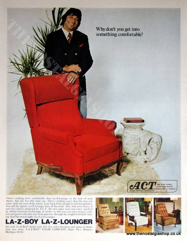 LA-Z-BOY LA-Z-LOUNGER. Original Advert 1972 (ref AD4049)