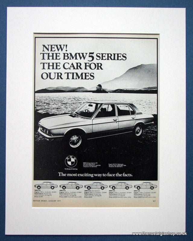 BMW 5 Series. Original Advert 1975 (ref AD1399)