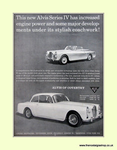 Alvis Series IV Original Advert 1966 (ref AD6649)