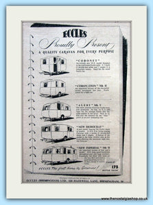 Eccles Caravans Original Advert 1953 (ref AD6351)