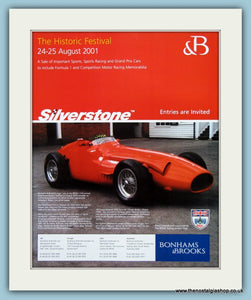 Silverstone Historic Festival 2001. Original Advert (ref AD2024)
