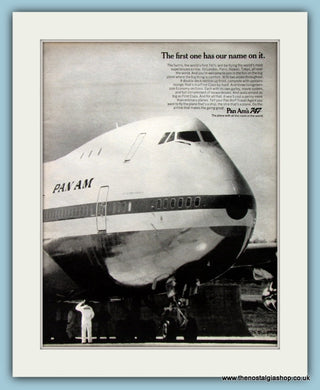 Pan Am 747 Original Advert 1970 (ref AD8271)