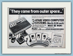 Atari Video Computer Systems Featuring Judge Dread Original Advert 1981 (ref AD6405)