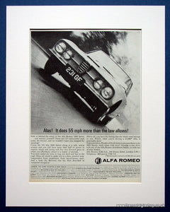 Alfa Romeo 2600 Sprint. Original advert 1966 (ref AD1415)