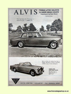 Alvis Three Litre and Coupe. 1960 Original Advert (ref AD6644)