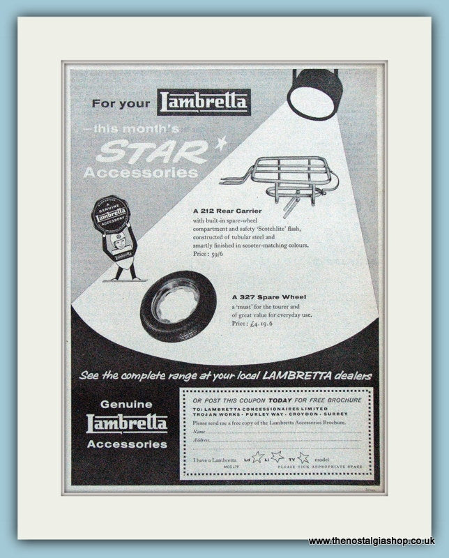 Lambretta Accessory Advert 1960 (ref AD4089)