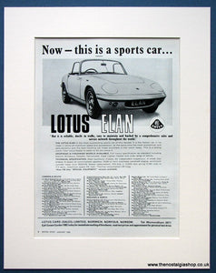 Lotus Elan 1968 Original Advert (ref AD1657)