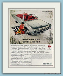 Chrysler 440 TNT V-8 Original Advert 1966 (ref AD8308)