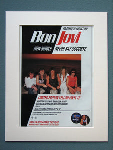 Bon Jovi, Never Say Goodbye.  Original Advert (ref AD887)