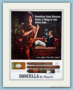 Doncella Cigars Original Advert 1966 (ref AD6134)