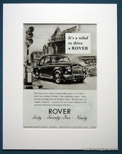 Load image into Gallery viewer, Rover 60, 75, 90 Set Of 2 Original Adverts 1955 (ref AD1109)