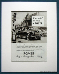 Rover 60, 75, 90 Set Of 2 Original Adverts 1955 (ref AD1109)