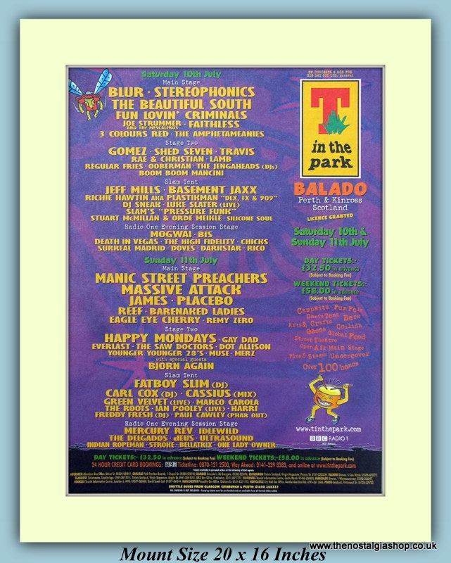 T In The Park Perth & Kinross 1999 Original Advert (ref AD9031)