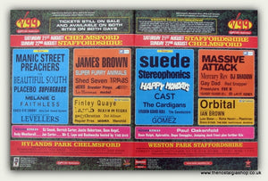 V99 Festival Original Advert 1999. Manics, Suede, James Brown. (ref AD9045)