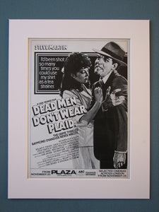 Dead Men Don't Wear Plaid Original Advert (ref AD413)